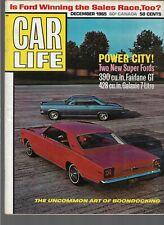 DEC 1965 CAR LIFE vintage car magazine - FAIRLANE GALAXIE