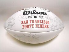 Jerry Rice Steve Young Stubblefield 1996 49ers Team Autographed Signed Football