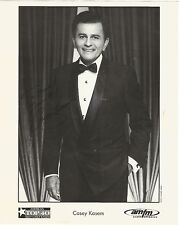 CASEY KASEM SIGNED B&W 8x10-AUTOGRAPH PROMO PHOTO AMERICAN TOP 40 TUXEDO