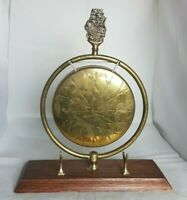 Beautiful Antique Brass Gong with Stand (Height - 32 cm)