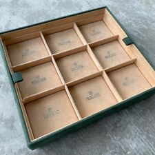 Vintage Rolex Green Dealer Display Tray - Attractive and Complete!