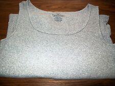 Faded Glory Unisex 3X (22W-24W) Light Gray A-Shirt UnderShirt