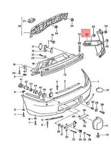 Genuine PORSCHE Boxster 986 Wheel Housing Liner Right 98650563202