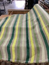 """Funky Striped Terry Cloth Chenille Upholstery 54"""" By The Yard Railroaded Fabric"""