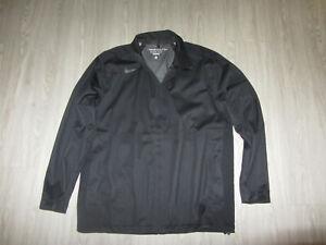 Nike Storm Fit 5 Golf Jacket Coat Large Black Rain Wind Full Zip Golfing L Lg