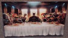 Batman Last Supper Glossy Art Print 11 x 17 In Hard Plastic Sleeve