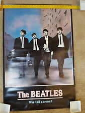 "The Beatles ~ Was It All A Dream?  Apple Corps. Poster 36x24"" 1988 VG+"