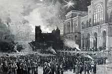 St. Louis Exposition FIREWORKS NIGHT SCENE 1886 Graham and Snyder Matted Print