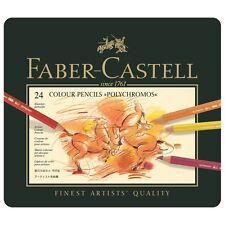 Faber Castell Polychromos Pencil Tin Set of 24. Artists Colour Pencils.