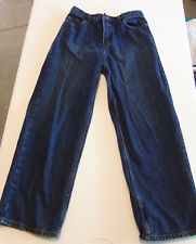 BOYS YOUNG MEN URBAN PIPLIN UP DENIM JEANS SIZE 18R ADJUSTABLE WAIST VGC