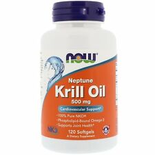 Now Foods KRILL OIL 500mg, 120 softgels OMEGA-3 Fish Oil HEART & JOINT HEALTH