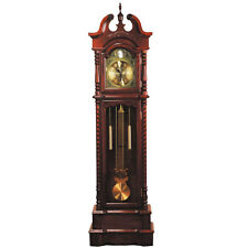 Traditional Style Grandfather Clock Broadmoor Dark Walnut Analog clock face NEW