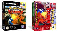 - Pokemon Stadium N64 Replacement Game Case Box + Art Work Only