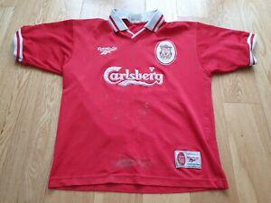 Mens Reebok Liverpool Home football shirt 1996 - 1998 Size M