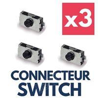 ★TOP QUALITÉ★ 3x Switch réparation bouton pour Clé Télécommande Plip Renault