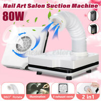 80W Nail Salon Suction Dust Remover Collector Vacuum Cleaner Manicure US  i
