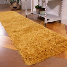 Ochre Shaggy Rug Thick Soft Bedroom Rugs Mustard Yellow Non Shed Living Room Rug