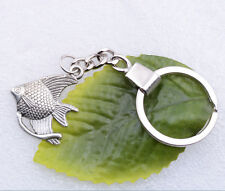 Wholesale 2pcs Metal alloy fish shape charm key chains gift new 30x25mm #A6024