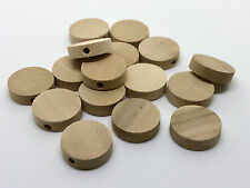 50 pcs wood beads wooden bead cylinder barrel jewelry spacer 15mm flat round 3t