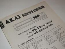 Akai VS-53 / VS-55 VHS Video Cassette Recorder ~ Service Manual / Repair
