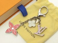Louis Vuitton Authentic Metal Bijou Sac Fleur De Epi Key Chain Bag Charm Auth LV