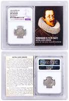 1578-1637 Medieval Austria Silver 3 KR Ferdinand NGC UNC Details Vault SKU51600