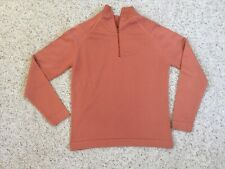 Vintage Givenchy Sport Orange 1/4 Zip Knit Qiana Nylon Pullover 36 S/M Union USA
