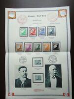 Germany Nazi 1934 Airmail Stamps Swastika Sun Globe Eagle Zeppelin WW2 3rd Reich