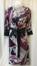 Size 10 Wrap Dress Target Stretch 3/4 Sleeve Work Smart Casual Evening  Travel