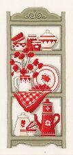 VERVACO  0012174  Etagère de Cuisine Rustique  Broderie  Point de Croix  Compté