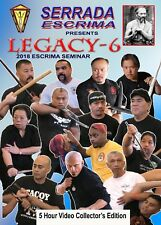 Legacy 6 - Serrada Escrima 2018 San Francisco Seminar 5 Dvd Set