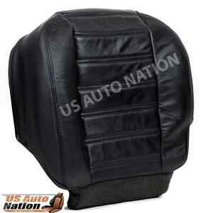 2003-2007 Hummer H2 AWD Driver Side Bottom Replacement Leather Seat Cover Black