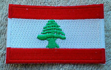 LEBANON FLAG PATCH Embroidered Badge Iron Sew 4.5cm x 6cm لبنان‎ Libnān Lubnān