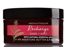 Bath And Body Works RECHARGE Sage + Mint   Body Butter ~ 6.7 Oz