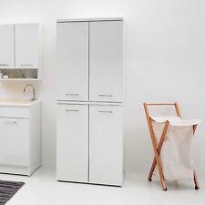 Colonna porta lavatrice e asciugatrice fronte lucido bianco con maniglie cromate