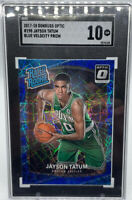 2017 Jayson Tatum Donruss Optic Blue Velocity Rated Rookie #198 SGA 10 GEM MINT