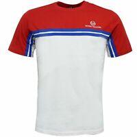 Sergio Tacchini Carey T-Shirt Colour Block Top White Red 38143 613