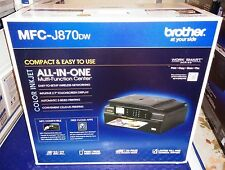 """New Brother MFC-J870DW Wireless All-In-One Inkjet Printer NFC 2.7"""" LCD Airprint"""