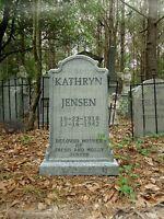 Evil Soul Studios LIFE SIZE Kathryn Jensen Vintage Tombstone Halloween Prop  NEW