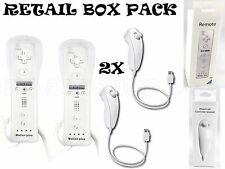 2X BUILT IN MOTION PLUS REMOTE CONTROLLER AND NUNCHUCK FOR WII & WII U UK SELLER