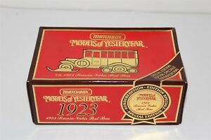 Matchbox Models Of Yesterday Y16 1923 Scania-Vabis Post Bus Diecast 1987