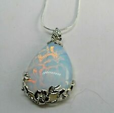 Beautiful Moonstone Pendant on a Sterling Silver Chain