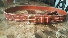 VTG El Paso Saddlery Men's size 43 belt and brass buckle. USA made