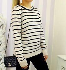 Oasis Striped Embellished Neck Breton Statement Jumper Sweater Blogger Chic L