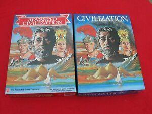2 Jeux Vintages - Avalon Hill -  CIVILIZATION et ADVANCED CIVILIZATION