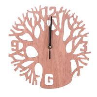 EG_moderne en bois arbre Horloge Murale 3D DIY salle à MANGER MAISON BUREAU