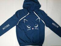 Meow Cute Kitty face Women's Hoodie for Cat Lovers Hooded Sweatshirt