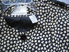 $292 AUTHENTIC DRESS BY DANA BUCHMAN IN BLACK and WHITE CARD PRINT 12-10 RARE