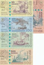 Island Buss Set 5 banknotes 2017 year UNC (private issue)