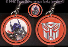 Punk Funky OPTIMUS PRIME TRANSFORMERS SPINNER EARRINGS Cosplay Costume Jewelry